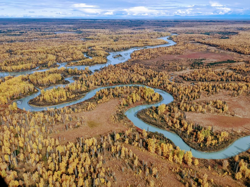 Susitna River from the air