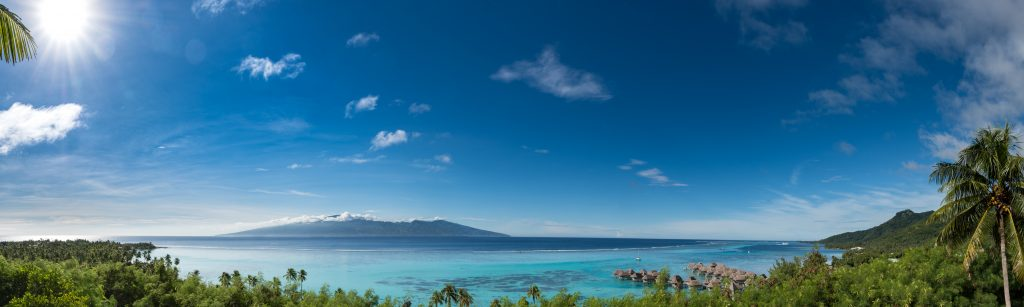 A beautiful landscape view of the Islands of Tahiti.